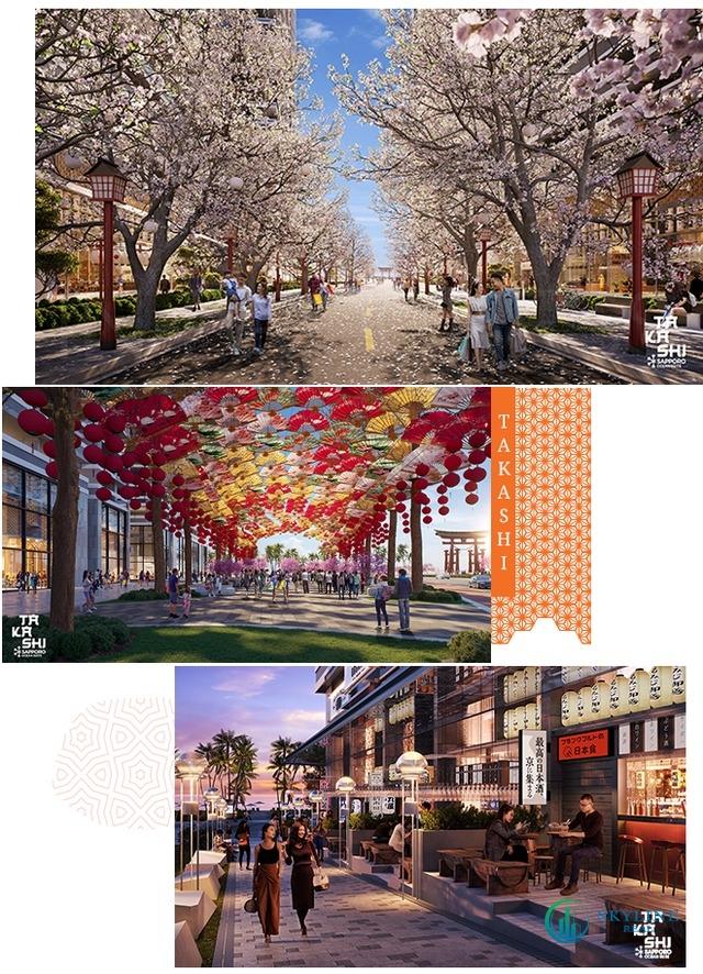 Phối cảnh không gian sống tại dự án Takashi Ocean Suite Kỳ Co