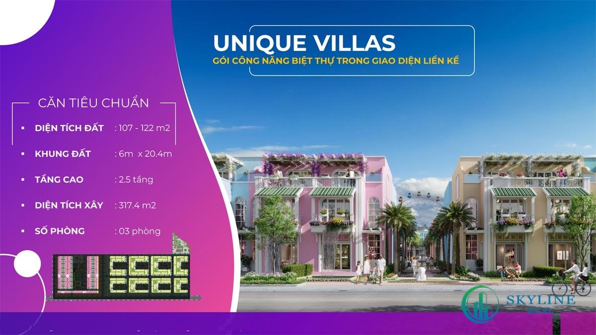 Thông tin Unique Villas tại dự án ParaSol