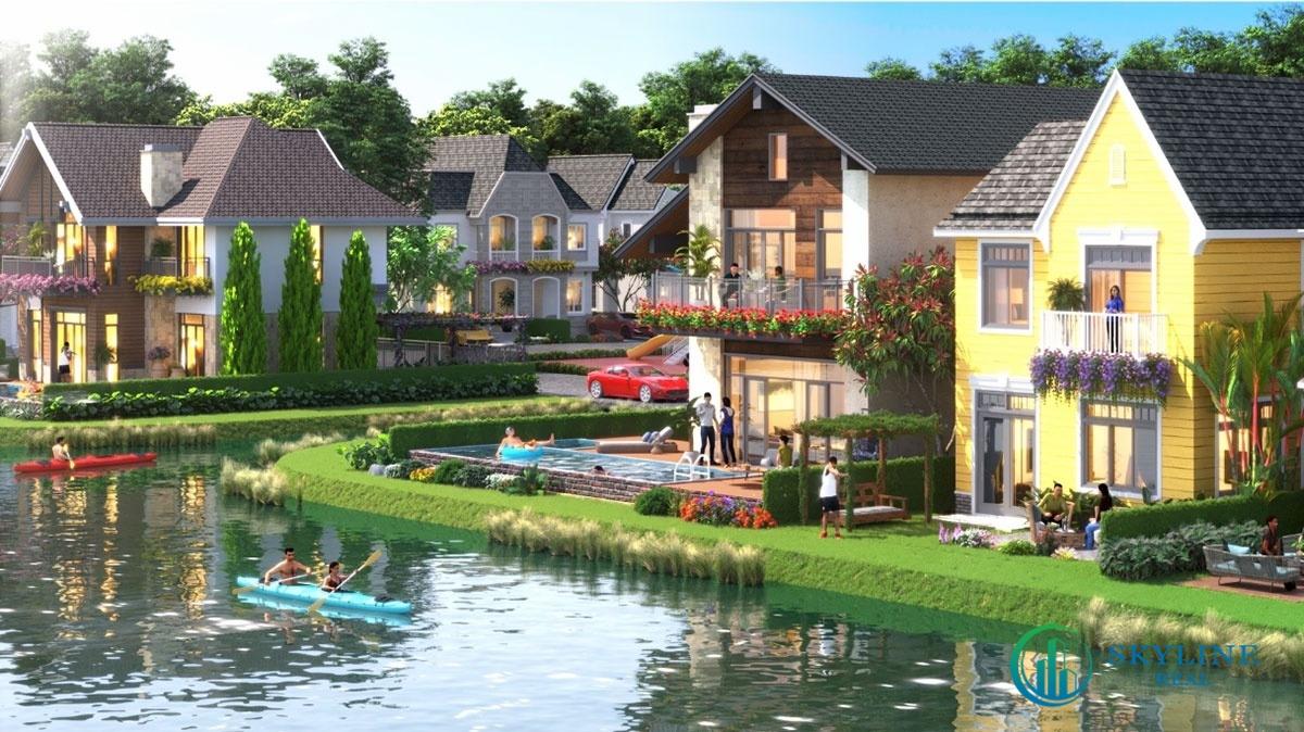 """Hệ thống kênh Lagoon bao bọc xung quanh """"ngôi làng"""" biệt thự"""