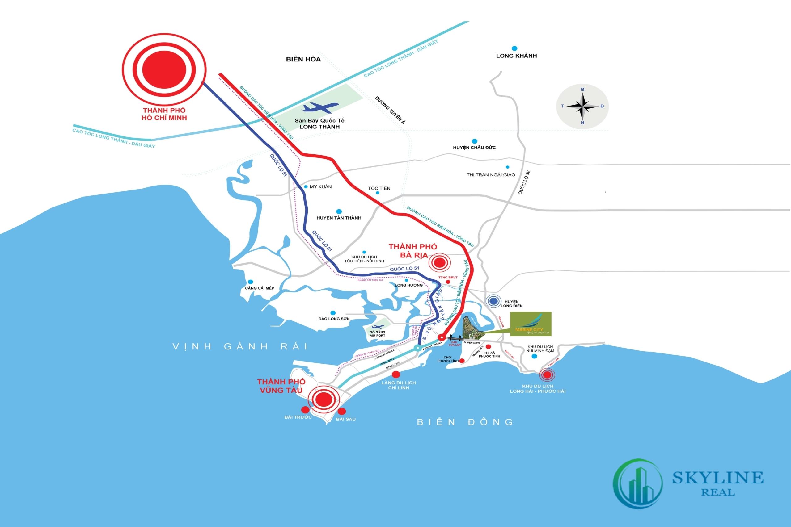 Vị trí dự án Marine City Vũng Tàu