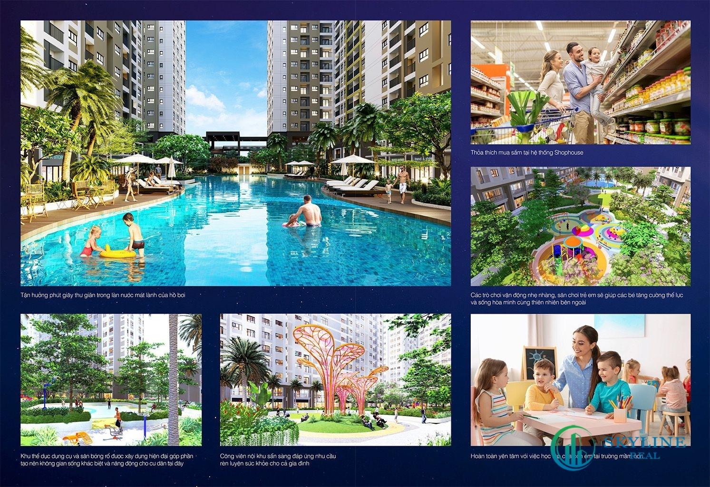 Hệ thống tiện ích nội khu tại căn hộ New Galaxy Nha Trang